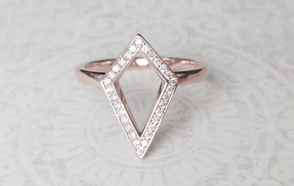 Bespoke Jewellery - rose gold kite ring