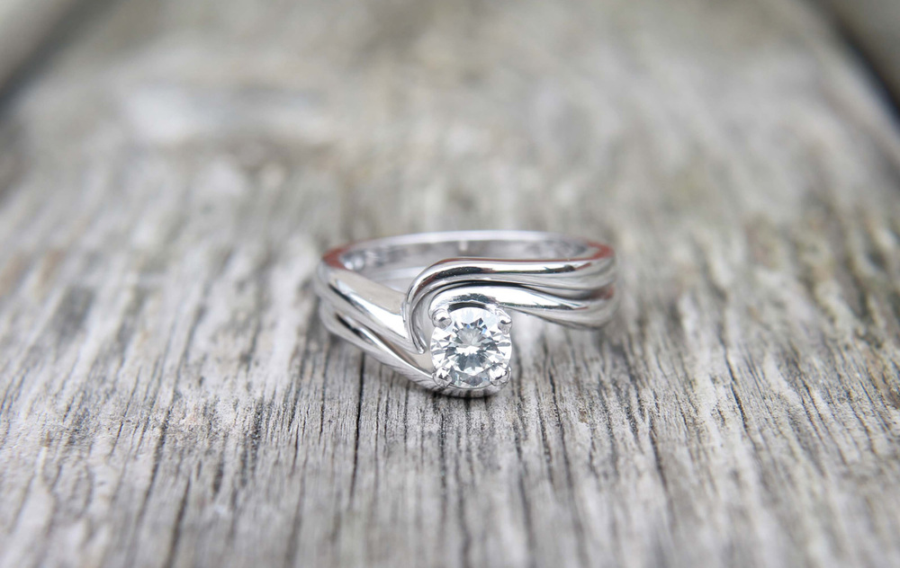 Bespoke Jewellery - shaped wedding Ring (1)