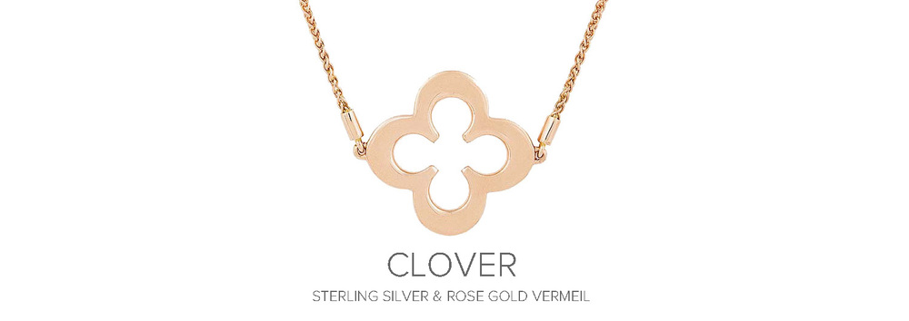 Clover - Sterling silver and rose gold vermeil