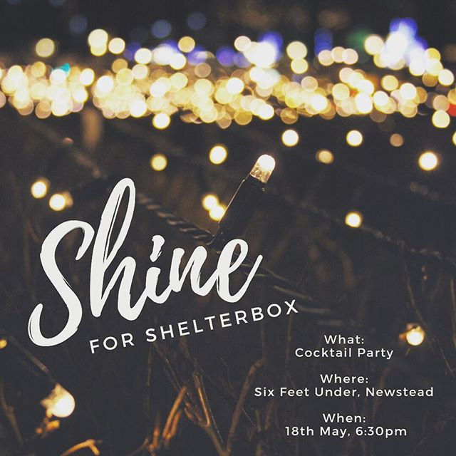 Go on and SHINE ✨  Roteract Brisbane Rivercity's 'Shine for Shelterbox' Cocktail event is upon us and you don't want to miss out! Early bird tickets now on sale -  head to the link in our bio or our Facebook page for tix and more event info 🙏🏻 💫It will be A night to remember...💫