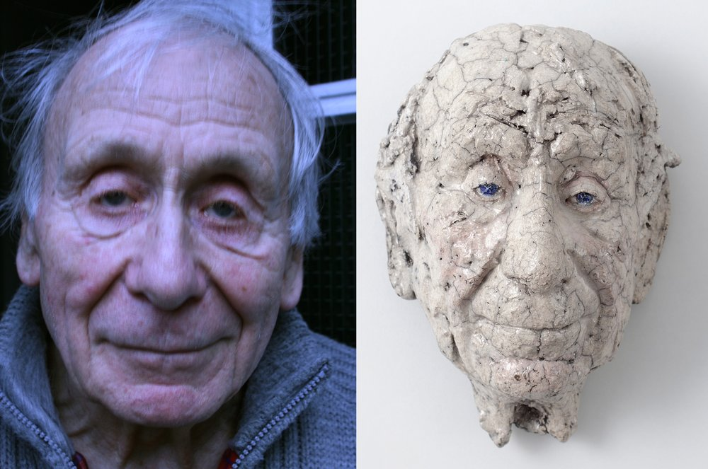 Voorbeeld//Example Jan Sierhuis. Portrait ceramic about life-seize from € 800 and up.