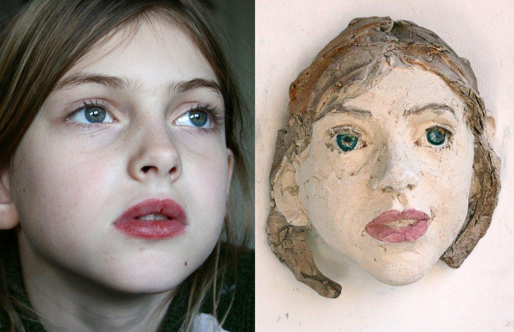 Kinderportret, ± 15 cm hoog. Vanaf € 350.