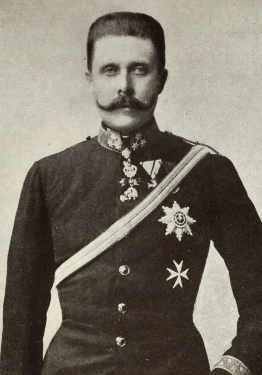 Archduke Franz Ferdinand, heir to the Austrian Empire, was assassinated in Sarajevo, July 1914.