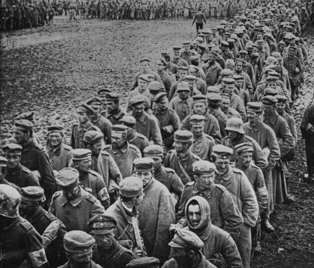 German prisoners-of-war, Western Front, 1918.