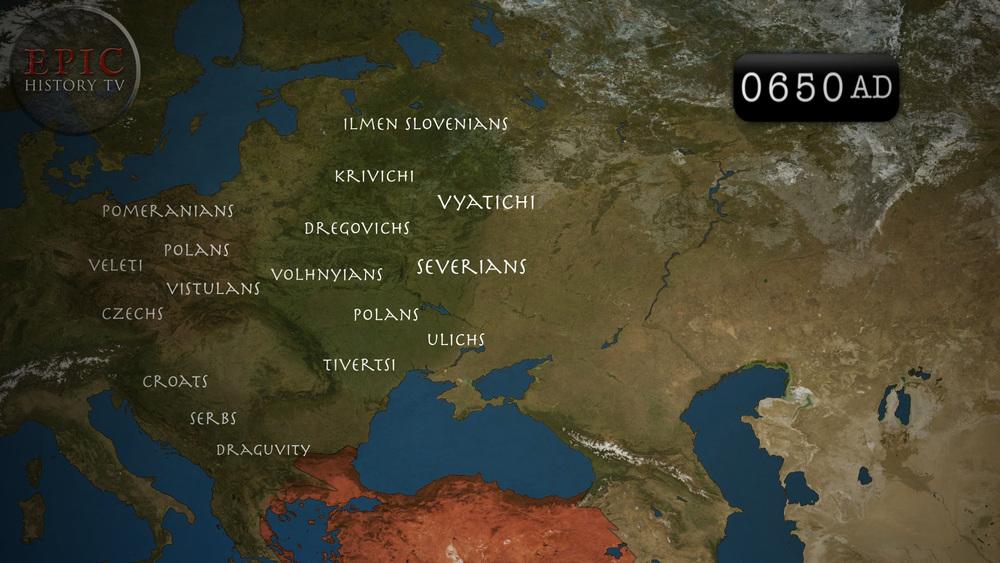 Slavs 7th century 650 AD