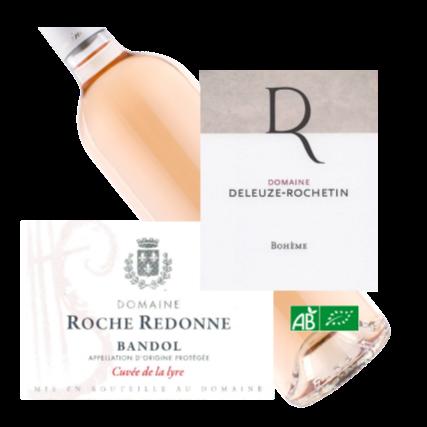 100% Organic French Rose Roche Redonne rose, Deleuze Rochetin La Boheme - La Cave wine.png