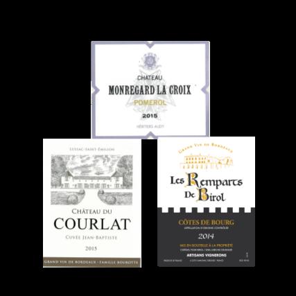 Bordeaux Monregard La croix Pomerol, Le Courlat Lussac St Emilion, Remparts de Birol Cotes de Bourg - La Cave wine - 70.png