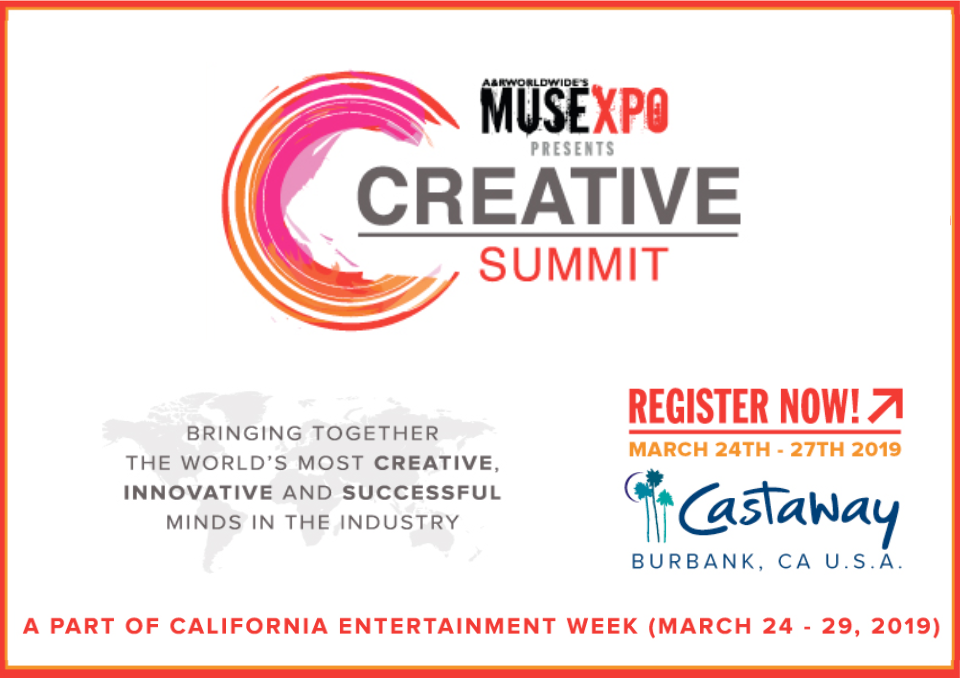 """Musexpo Creative Summit - Sunday, March 24th - 27th 2019 at Castaway Burbank, CAJoin us for a few days of discovering break-through artists and catching up with the """"World's most creative, innovative and successful minds in the industry"""".Our very own Champagne Guilleminot will be the official Champagne for the event!"""