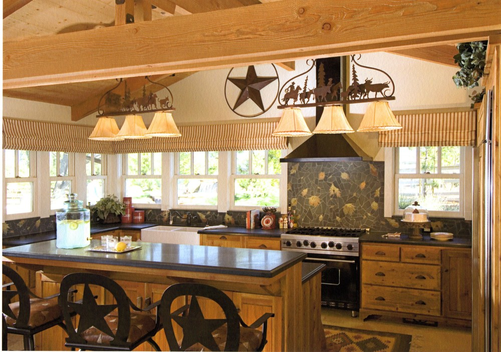 Ranch residential michelle neels interior design for Pictures of western style kitchens