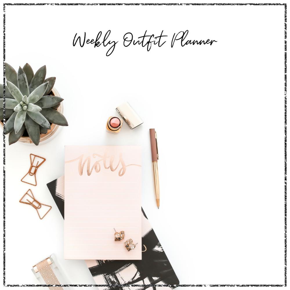 Weekly Outfit Planner - Veronika Nemeth