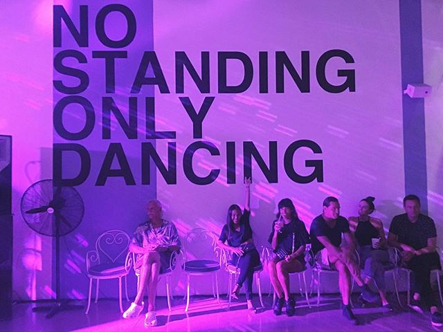Well it doesn't say anything about sitting... 💁🏼 #AboutLastNight #rebels #NoStandingOnlyDancing