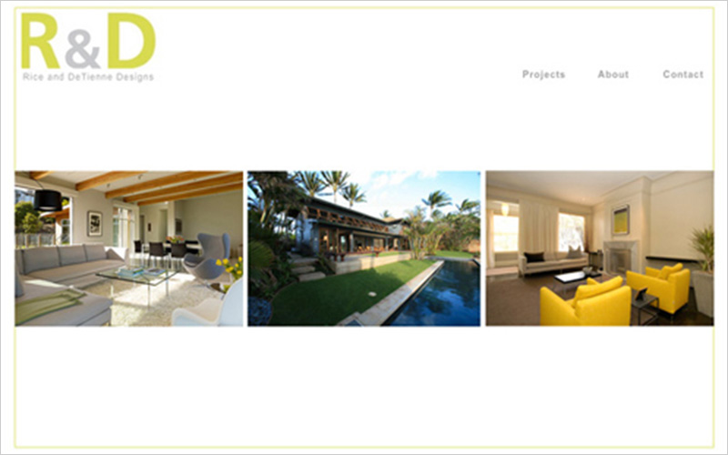 CLIENT  Rice & De Tienne Designs   PROJECT  Website Portfolio for Designers   SERVICES  Web Design, Creative Direction