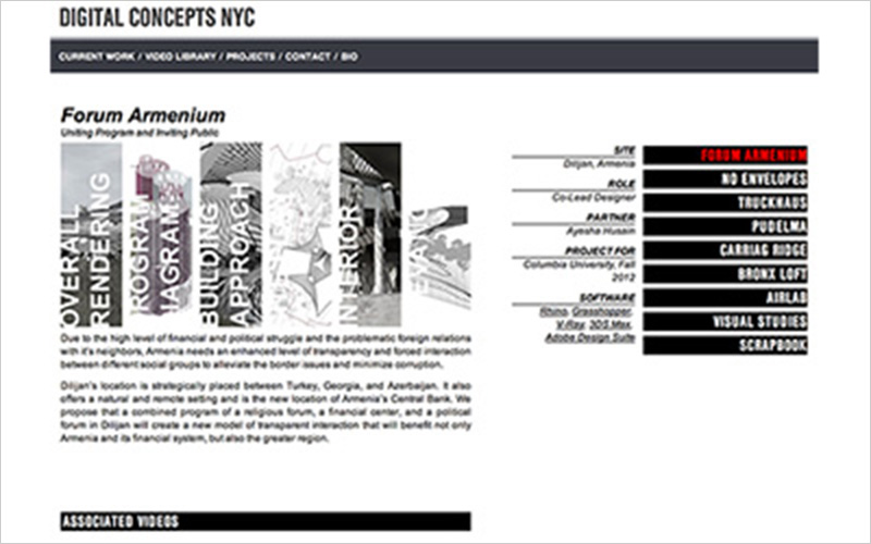 CLIENT  Digital Concepts NYC   PROJECT  Website Portfolio for Designer   SERVICES  Web Design & Development