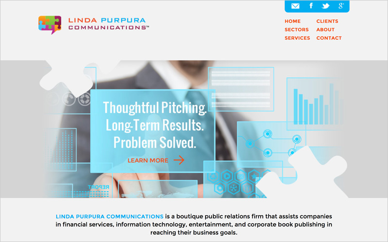 CLIENT  Linda Purpura Communications   PROJECT  Website for PR Firm   SERVICES  Web Design & Development