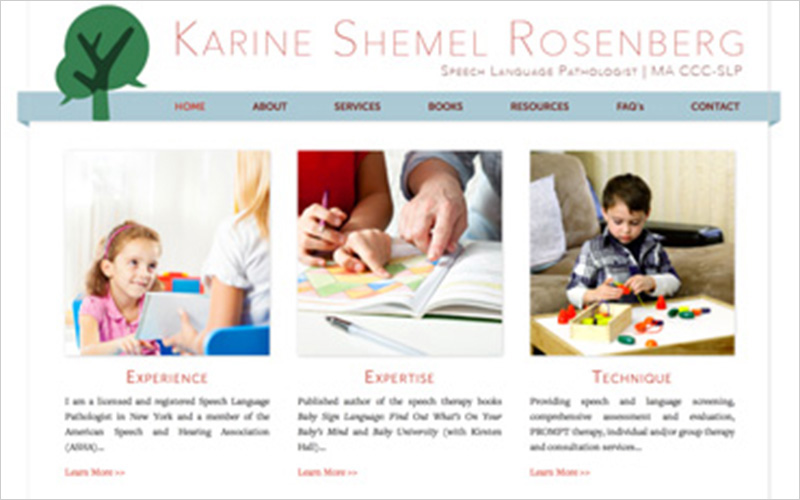 CLIENT  Karine Shemel Rosenberg   PROJECT  Informational Website   SERVICES  Web Design, Creative Direction
