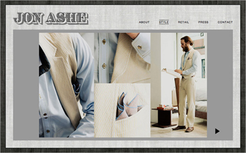 CLIENT  Jon Ashe Menswear   PROJECT  Website & Lookbook for Designer   SERVICES  Web Design, Creative Direction