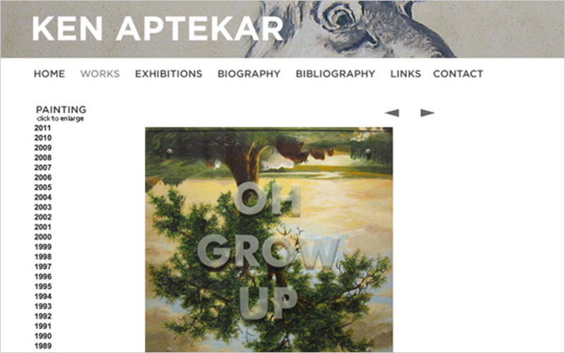 CLIENT  Ken Aptekar, Visual Artist   PROJECT  Website updates to portfolios   SERVICES   Web Design/Digital Imaging Consulting & Instruction