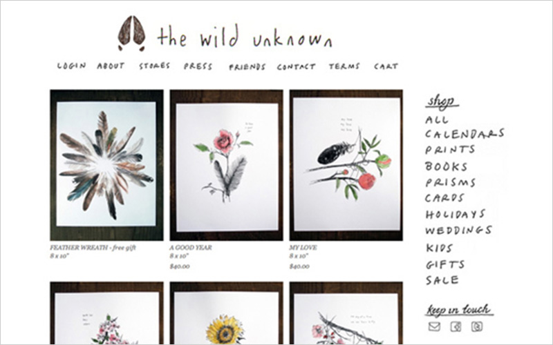 CLIENT  The Wild Unknown   PROJECT  Website updates and modifications   SERVICES   Web Design Consulting & Instruction