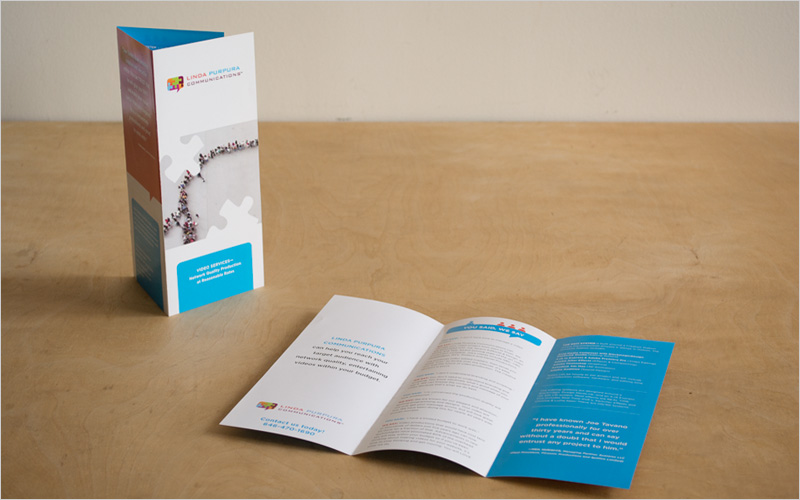 CLIENT  Linda Purpura Communications   PROJECT  Brochure  SERVICES Production Design, Prepress,  Copy Editing