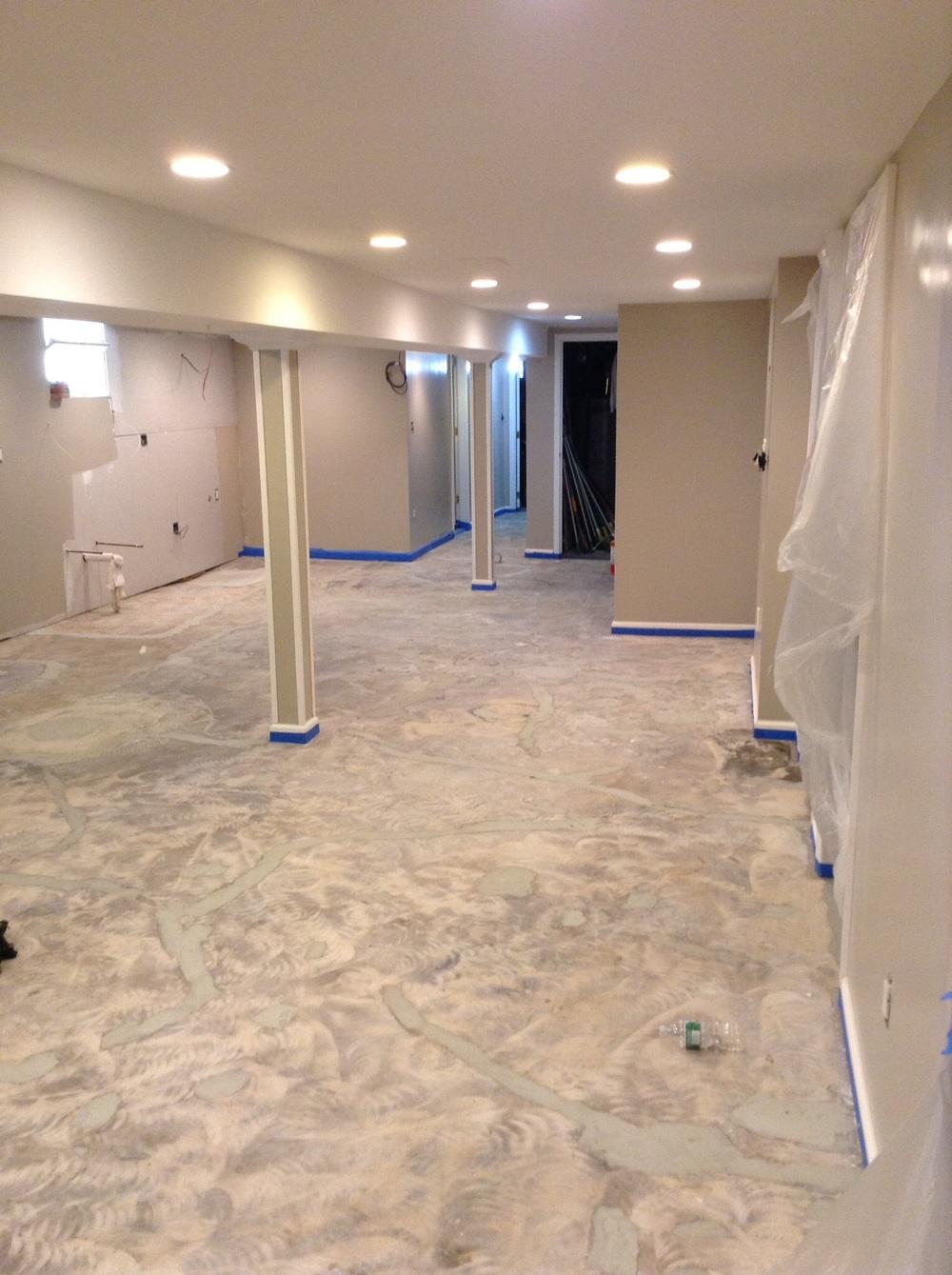 Epoxy Basement Floor Covering. Epoxy Flooring Basement Basement Floor With Decorative Chip Epoxy Flooring T