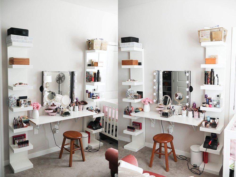 makeup setup madison blogger