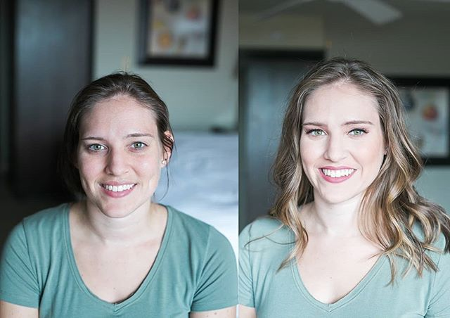I've been slacking on my before and after's lately. I had the chance to beautify my photography client and I love this simple classic beauty look! Also, hello, I love doing makeup on green eyes!!