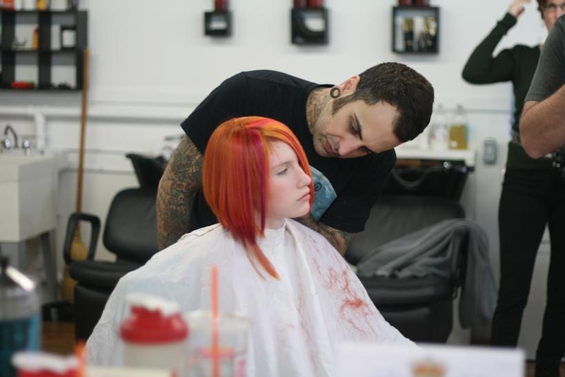 Ben candid 2 pink hair.jpg