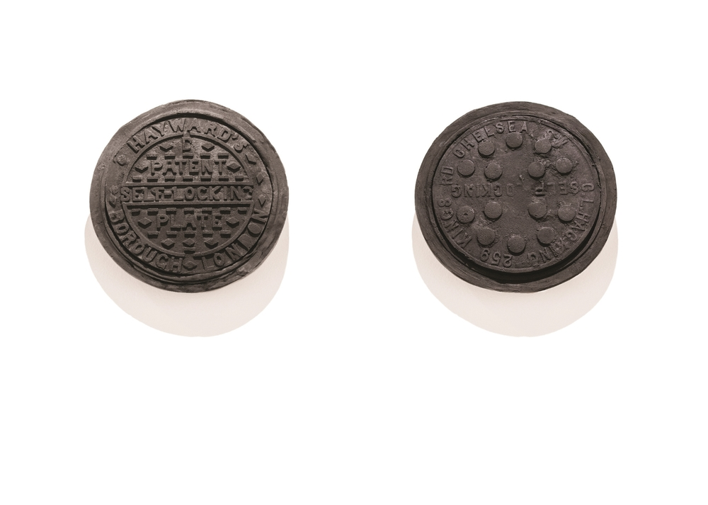 Commemorate W8, 2013 & Commemorate SW1, 2013 Coal hole covers cast in compressed charcoal dust