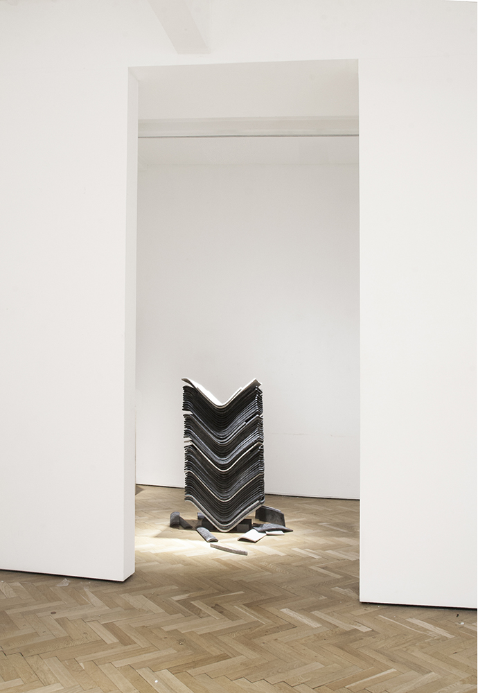 untitled (stack of chairs), 2015; cast jesmonite