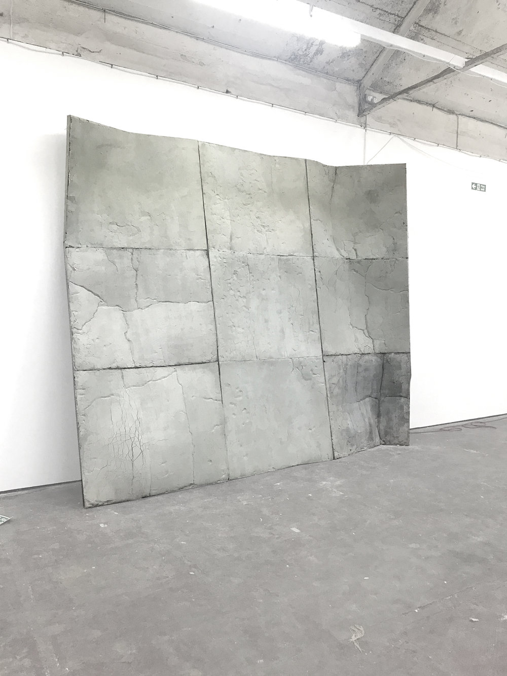 Lithic, 2017 Upholstery foam from recycled furniture soaked in jesmonite and marble dust