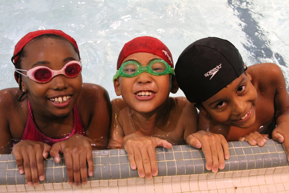 - $100 provides 10 swimsuits for eager new swimmers in our Early Childhood Center as they learn fun and safety in our swimming pool.