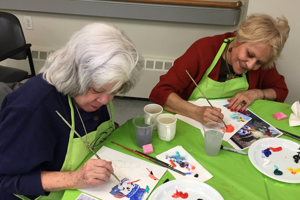 - $50 buys enough paint for a five-session Art Therapy program for individuals living with dementia.