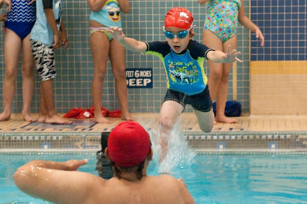 $50    today supplies new swim caps for 10 preschool swimmers tomorrow