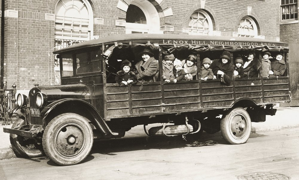 1920s People on Bus