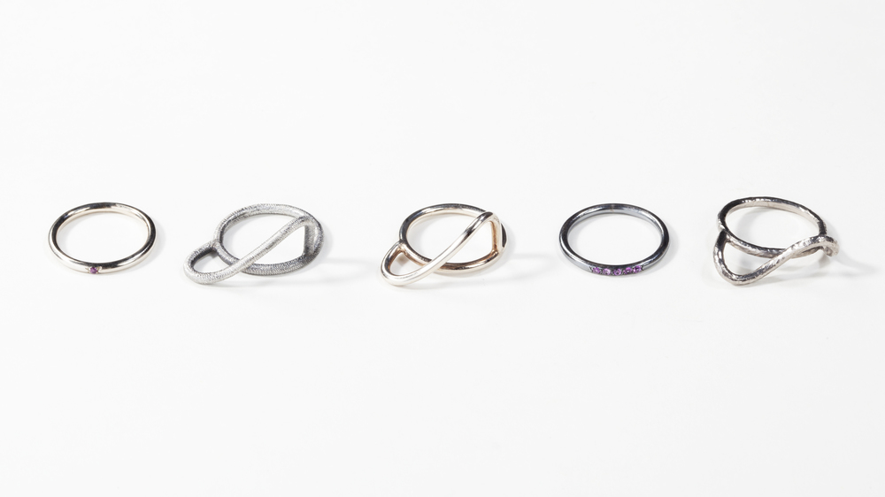 Travel Rings - 2012 - silver and pink sapphires