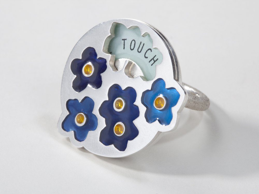 forget-me-not – 2012 – silver and resin