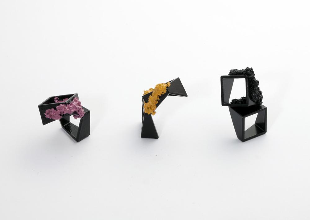alma sophia design square rings