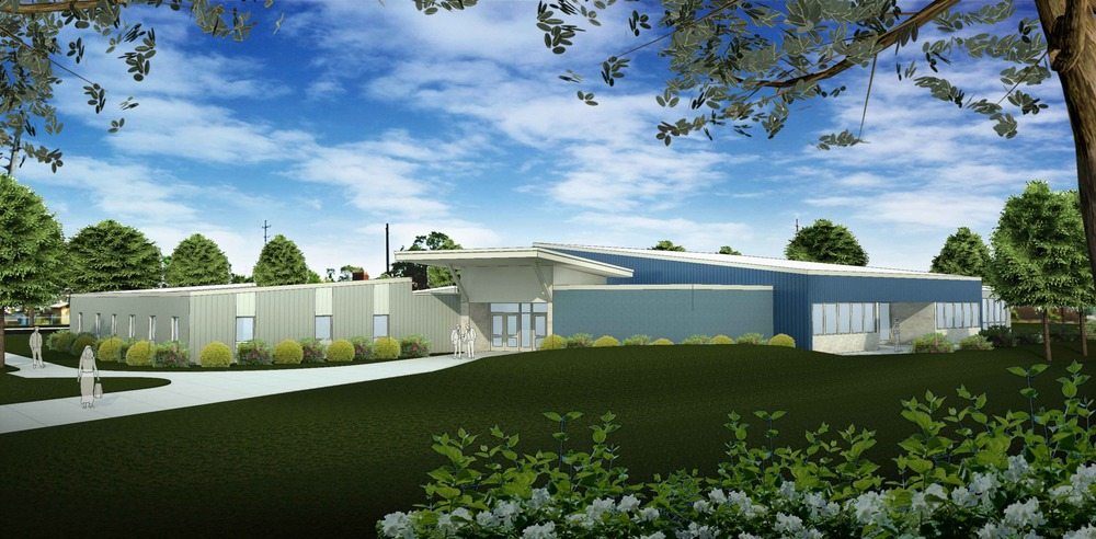 Architectural Rendering of the New Facility