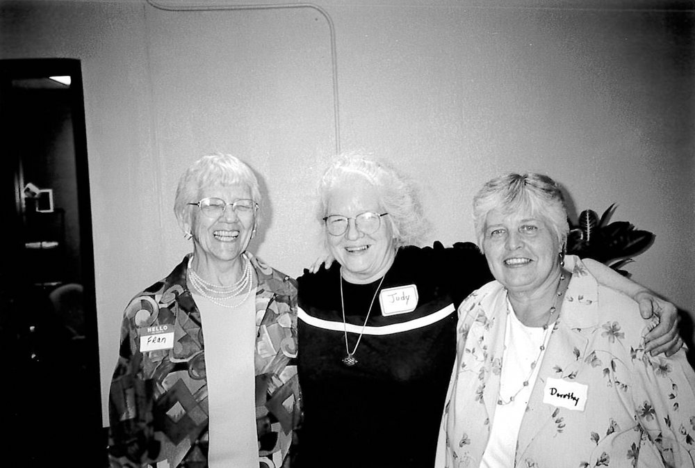1. Dorothy Markusse - Dorothy Markusse (far right side of photo) is one of Ministry with Community's founders. In 1978, she and other members of the North Presbyterian Church in Kalamazoo recognized a need for basic services in the community. Together they started serving meals and created a safe space where people could gather in the basement of their church. As the organization grew, Dorothy became the first Executive Director and moved Ministry with Community into a building of its own at 440 N. Church Street.