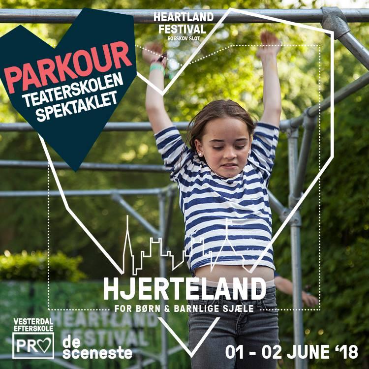 PARKOUR - Hjerteland byder på masser af udfordringer og spænding. Sammen med Teaterskolen Spektaklets unge undervisere kan du i Hjertelands parkourområde forcere forhindringer, vende op og ned på alting og springe over hvor gærdet er højest.