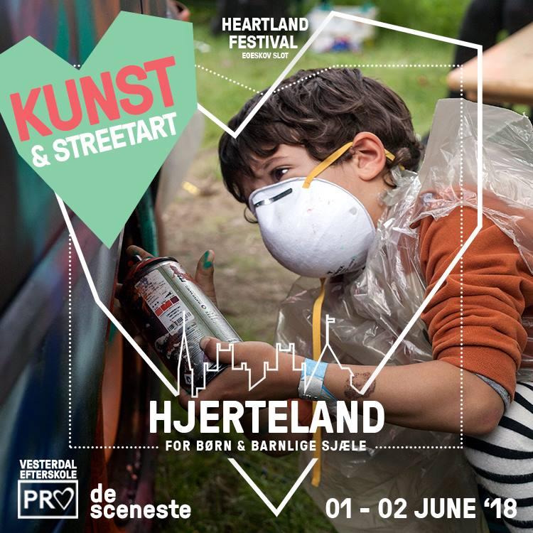 KUNST & STREETART - Heartland har et kunstprogram med samtidskunst, men du skal ikke snydes i Hjerteland. Her produceres nutidskunst lige fra hjertet - som opstår, udvikler og forandrer sig under festivalen.