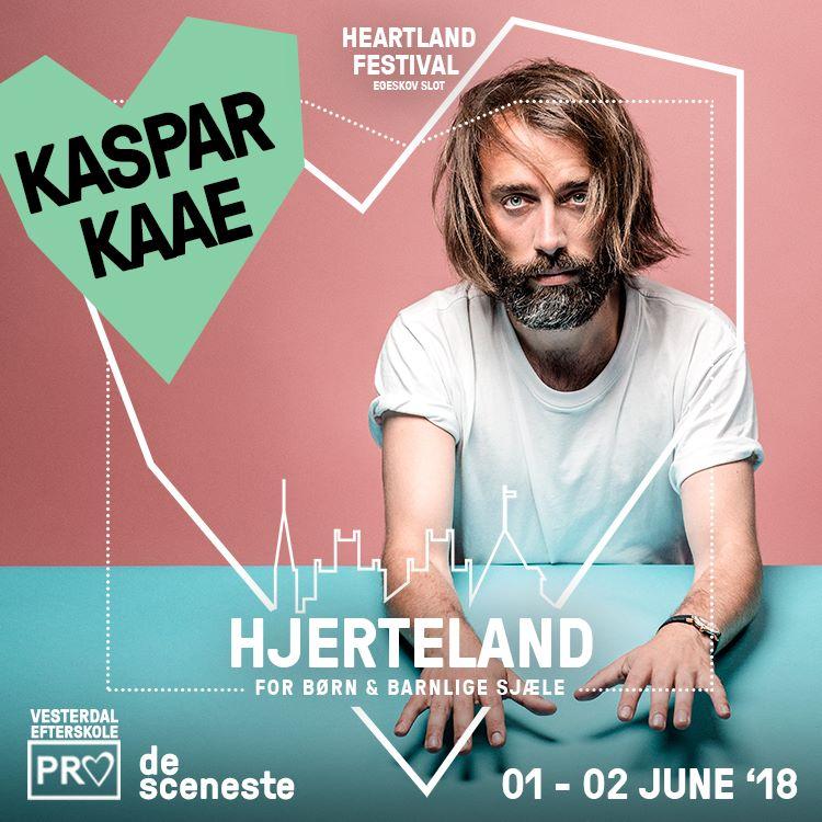 KASPER KAAE - Hjerteland byder igen i år på en række musikalske oplevelser med et helt særligt Hjertelands twist. Fredag kl. 18.15 kigger Kaspar Kaaeforbi med sit sprit nye solo debut album 'Jeg begyndte at gå'.