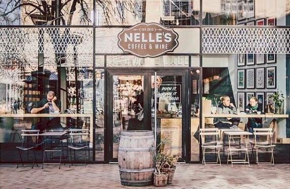 Nelle's kaffebar i Pantheonsgade, Odense. Foto:  odenses-gader