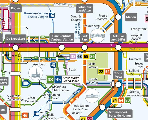 EN METRO & BUS La Gare Centrale est desservie par plusieurs métros, trams ou bus ! www.stib.be