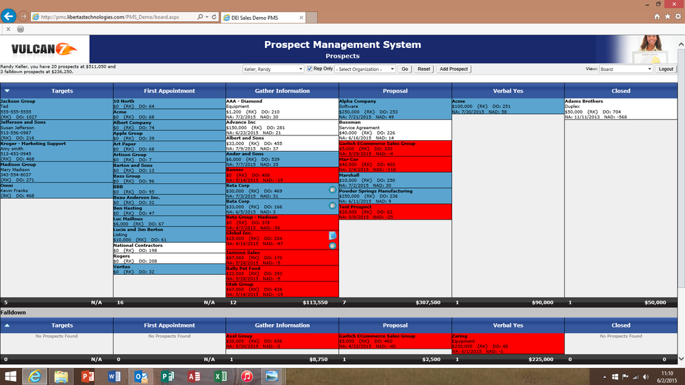 Prospect Management System