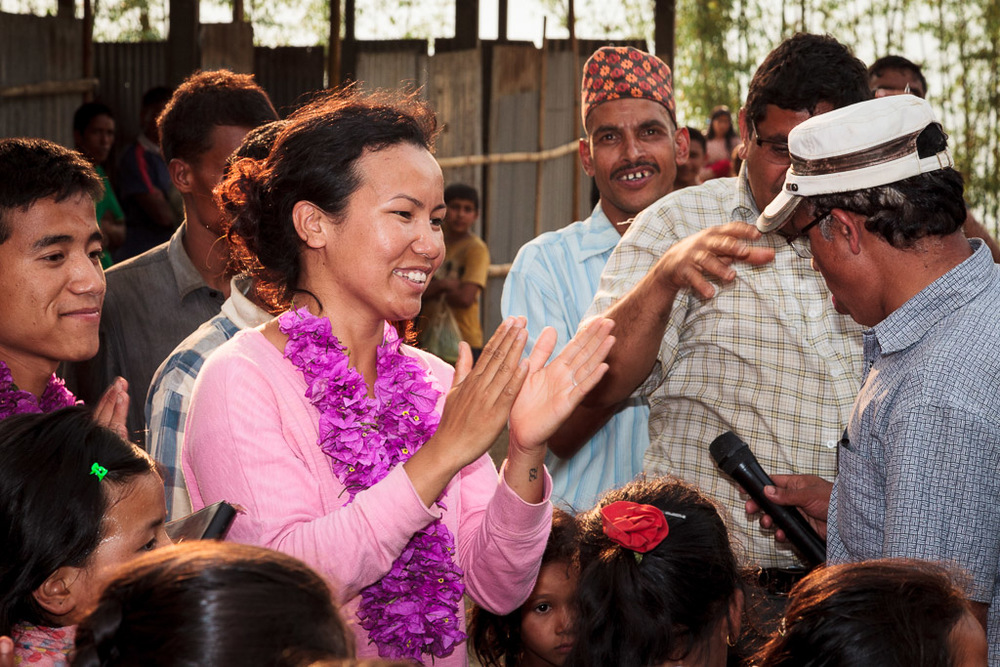 Rewati is thanked and thanks the villagers for their hospitality.