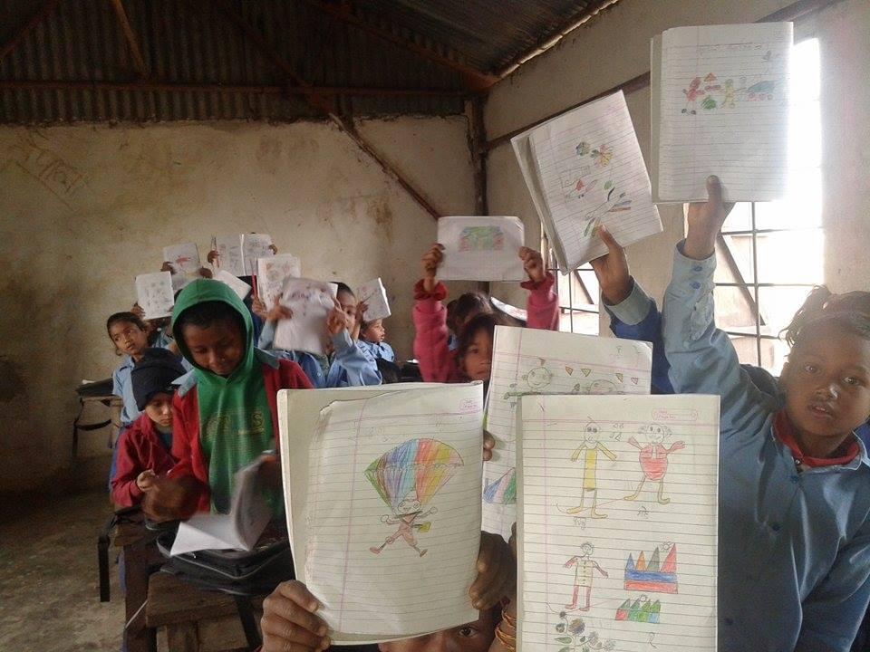 Classroom creativity parachuting rainbows and happiness!