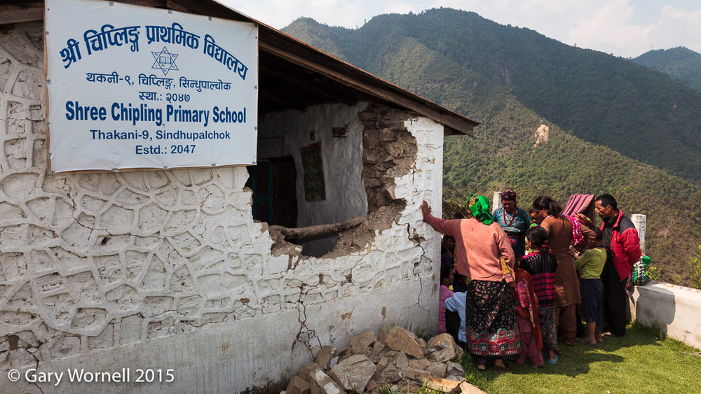Shree Chipling Primary School in Sindupalchok, one week after the earthquake of May 12 2015.
