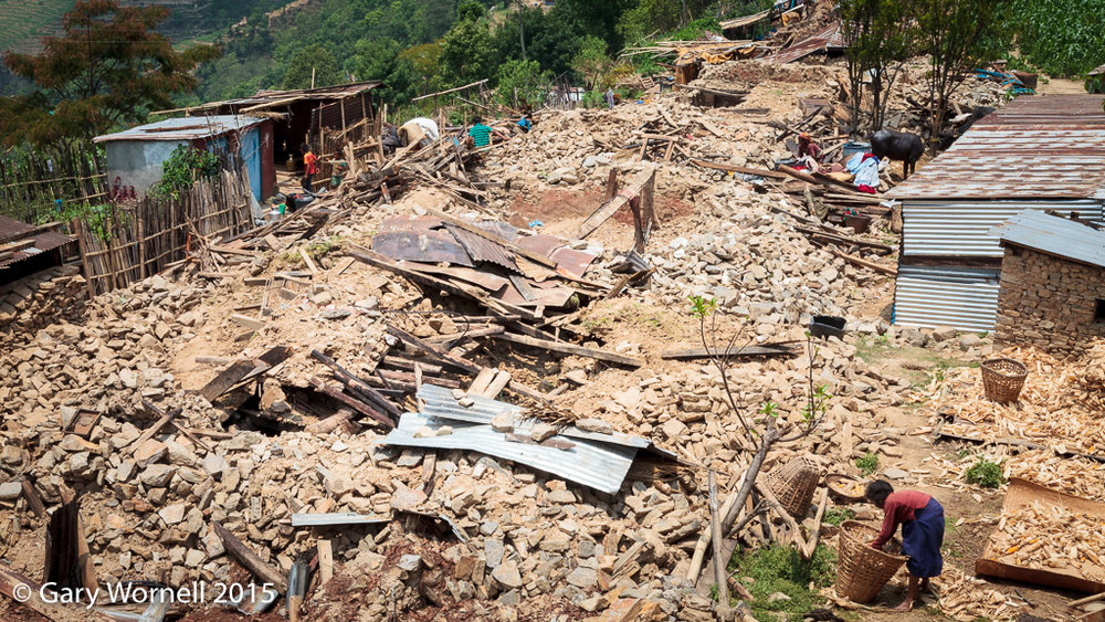 The village of Thakani, Sindupalchok 5 days after the earthquake of May 12, 2015.