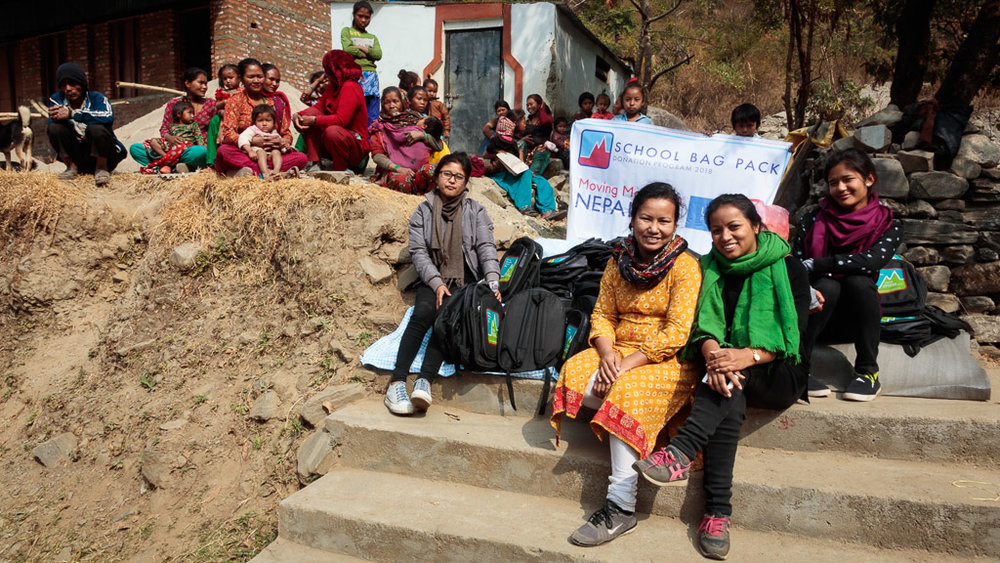 Moving Mountain Nepal's team of volunteers including girls from Unatti Group Home for Girls in Bhaktapur.